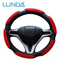 Wholesale 38cm Sandwich Fabric Car Steering Wheel Sport Type Skidproof auto supplies car covers Fits Most Car Styling