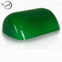 bankers lamp green - GREEN GLASS BANKER LAMP COVER Bankers Lamp Glass Shade