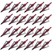 Wholesale 18pcs Outdoor Grain Hunting Red Broadheads Archery Arrowhead Crossbow Arrow Heads Tips Blade Red