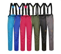 Wholesale New Snowboard Pants Pure Color Outdoor Climbing Fishing Traveling Hiking Pants Waterproof Breathable Removable Bladder Ski Pants