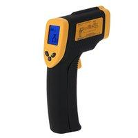 al por mayor puntos digitales-El metro infrarrojo infrarrojo de la temperatura del punto del laser del pirómetro del termómetro del IR ninguna exhibición de Digitaces LCD del contacto libera el envío H1779