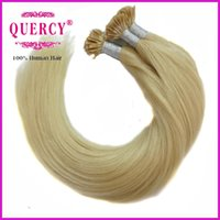 Wholesale Pre bonded Hair Extensions Brazilian hair extensions A I tip hair g strand blond color can be dyed Quercy Hair