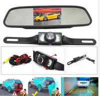 LCD Monitor auto rear led - HD Video Auto Parking Monitor inch Car Rearview Mirror Monitor with LED Night Vision Reversing CCD Car Rear View Camera