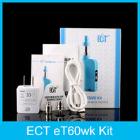 arrival ect - New Arrival Authentic ECT eT60wk Kit with fog s mah W electronic cigarettes W W temperature Control mod VS Subox mini SMOK R40 Kit