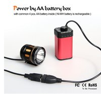 aa bikes - AA battery box for bike light xaa waterproof battery case ni mh battery case power bank for outdoor use