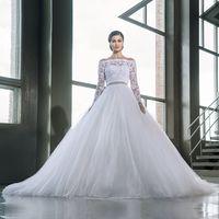 Wholesale Long Sleeve Lace Wedding Dresses Turkey Off Shoulder Muslim Ball Gown Bridal Bride Wedding Gowns robe de mariage