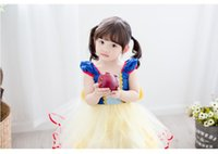 baby girl bows and tutus - 2016 baby girls princess dress European American girls summer dress baby girl wedding and party lace tutu dress BH2255