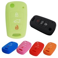 Wholesale 6 Colors Buttons Flip Folding Silicone Key Cover Case Holder Shell fit for KIA RIO K2 K5 Sportage Sorento AUP_40L