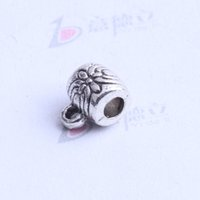 Wholesale tee union with pattern Bead caps charm antique silver bronze Zinc Alloy for DIY pendant Jewelry Making Accessories