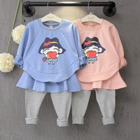 baby sweat suits - Girl toddler fall clothes sets baby girls dress suit sweater infant sweat autumn dresses party clothing child