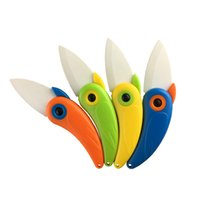 Wholesale 2016 New Mini Bird Ceramic Knife Gift Knife Pocket Ceramic Folding Knives Kitchen Fruit Paring Knife With Colourful ABS Handle