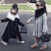 baby swing natural - 2016 Baby Girls Kid Swing Max Batwing Full Dress Loose Asymmetric Party Dress MARRY