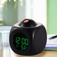 lcd talking alarm clock - Multifunction Vibe LCD Talking Projection Alarm Clock Time Temp Display Reveil Projection Relojes Despertadores clocks