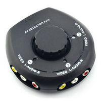 av splitter box - 3 Input Output Port rca splitter Audio Video AV RCA Switch Selector Box Splitter RCA Cable for XBox PS2 High