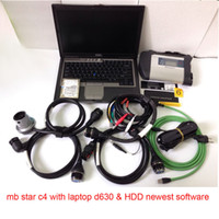 Wholesale MB SD Connect Compact Star C4 Diagnosis Plus D630 Laptop Software Installed Ready to Use DAS XENTRY MB Star C4