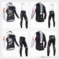 Wholesale Cervelo Cycling Jersey Sets Long Sleeve Autumn Winter With Padded Bib None Bib Pants Top Class Lycra Breathable Cycling Clothes XS XL