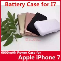 apple battery charging - iPhone7 Power Case mAh for iPhone Portable Power Bank External Battery Case for Apple i7 Battery Charger with Charge Out USB Port