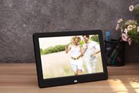 al por mayor fotos electrónico marco de imagen-Marco de imagen electrónico 10.1 pulgadas Full-view HD TFT-LCD Digital Photo Frame reloj de alarma MP3 MP4 Movie Player DHL libre