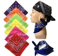 Wholesale New Hot Sales Cotton cm cm Paisley Printed Bandanas For Women Men Boys Girls