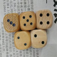 Wholesale DHL Freeshipping wood game dice mm dice kids toy dice lovely and convenient Diversification of performance