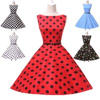 belts with flowers - Grace Karin Women Dresses Plus Size Summer Dresses Flower Floral Printed s s s Swing Vintage Dress Casual Party Dress With Belt