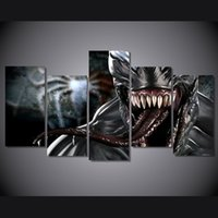 alien movie art - 5 Set No Framed HD Printed Alien alien monster movie Painting Canvas Print room decor print poster picture canvas wall art