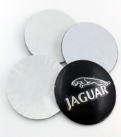 aluminum chrome wheels - Car Wheel Center Emblems for Jaguar hubcap labeling modified car tire center hole cover flag car stickers decorative aluminum na