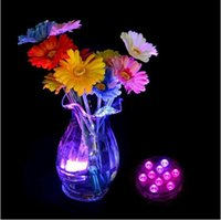 Wholesale RGB Remote Control LED Submersible Light Waterproof Candle Light Vases Base Decorative Lights For Valentine s Day Xmas Party Decoration