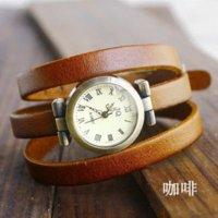 amazing wrist watches - Top Quality Amazing Punk Cow Leather Watch women ladies fashion dress quartz wrist Watches Relogios Feminino kw026