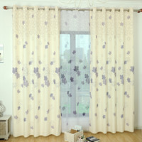 Wholesale Korean Style Voile Curtain Living Room bedroom blackout curtains window screens leaves printed sheer curtains