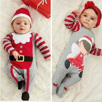 baby boy christmas gifts - hot sale babies rompers Xmas Santa Claus Toddler Baby Boy Girl Jumpsuit Hat Headband Outfits christmas perfect gift for girls Sets