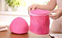 Wholesale 2 styles Bra laundry bag for Washing bra underwear Care wash Double Layer Rose Net bag Bra Laundry basket novelty household