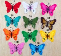 Wholesale 7 cm Butterfly Patch Iron On or Sew on Embroidered Applique Diy Decoration Patches random HS6