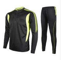 Wholesale Winter Men s Long Sleeve Soccer Jersey Running Sportswear Warm Football Training Suit Soccer Equipment Running fitness clothes