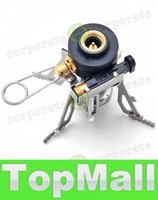 Wholesale LAI Portable Outdoor Picnic Gas Burner Foldable Camping Mini Steel Stove Case