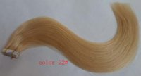 ash blonde colour - 18 quot quot Light Ash Blonde Colour g Indian Human PU Tape Hair Glue Skin Weft Hair Extensions H07