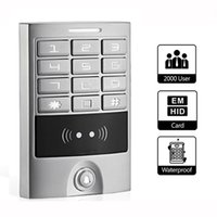 access keypads - RFID KHz IP65 Waterproof Backlit Metal Keypad Panel Access Control Reader For Entry Security Silver F1223D