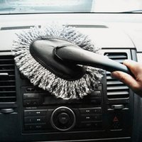 Wholesale 1PC Multi functional Car Duster Cleaning Dirt Dust Clean Brush Dusting Tool Mop Gray Brush