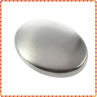Wholesale Stainless Steel Soap Oval Shape Deodorize Smell from Hands Retail Magic Eliminating Odor Kitchen Bar