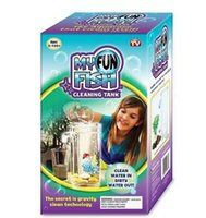 Wholesale New Arrival Magic My Fun Fish Self Cleaning Tank Clean Water In Dirty Water Out Complete Aquarium Setup Cool