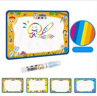 Wholesale 50x34cm Baby Kids Add Water with Magic Pen Doodle Painting Picture Water Drawing Play Mat in Drawing Toys Board Gift Christmas