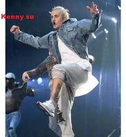 Cheap Fall-2016 rare new hip hop streetwear justin bieber purpose tour fear of god fog denim jacket s to xl