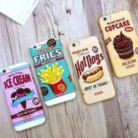 apple cupcakes - Fashion D Print Cartoon Delicious Ice Cream Fries Hot Dogs Cupcake Case Cover For iPhone S PLUS