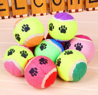 Wholesale Double color Tennis Ball cm in Rubber Pet Toys Dog Footprints Tennis Ball