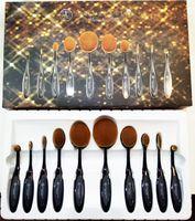 black powder - Makeup Brushes Set Oval Blending Brush Multipurpose Mermaid Toothbrush Foundation Powder Soft Face Brushes Professional Makeup Tools