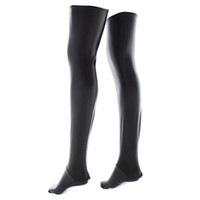 beauty apparel - Exotic Apparel Accessory Faux Latex Thigh highs Stockings for Women Erotic Lingeries Parts Adult Bondage Game Long Socks