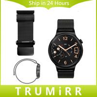 belt loop watch - mm Milanese Loop Band for Huawei Watch Strap Magnetic Closure Watchand Stainless Steel Belt Wrist Bracelet Quick Release Pin