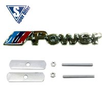 audi front grill - 3D Metal Sport power Front Hood Grill Badge Emblem stickers screws for POWER