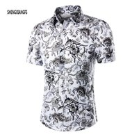 beach shirts for men - Summer Shirt Men Short Sleeve Male Beach Hawaiian Shirts Casual Floral shirt For MenPlus Size M XL