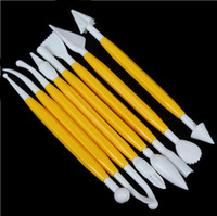 Wholesale 8 set Carving Tools Cake Decorating Tools Fondant Cookie Cutters Kitchen Tools Baking Cupcake free shopping